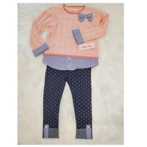 Little Lass Matching Sets - NWT Little Lass 2T girl sweater w/ jeggings